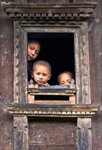 Children Tamang Heritage Trail Trek trekking hike hiking nepal