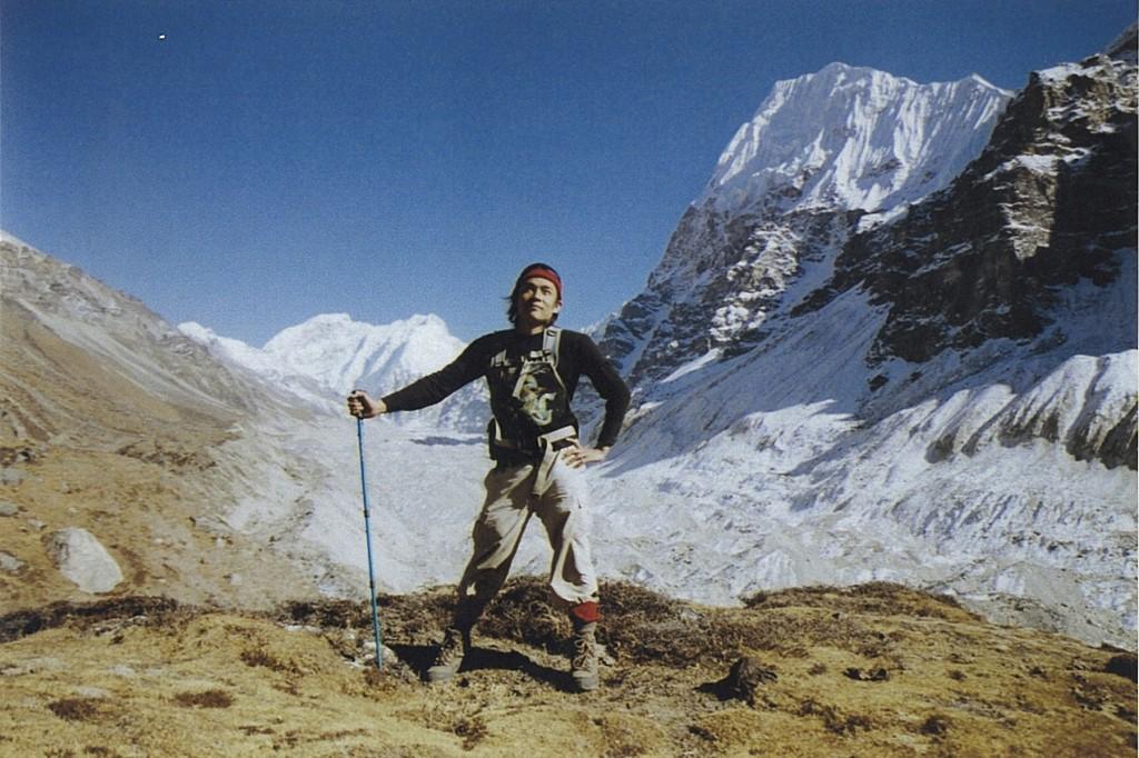 Trekker Kanchenjunga Glacier Base Camp Trek Nepal Trekking Hike Hiking Himalayas