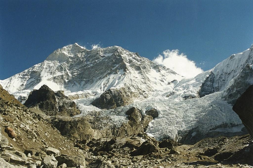 Glacier Mountain Makalu Base Camp Trek Barun Valley Makalu-Barun National Park Nepal Trekking Hike Hiking Himalayas