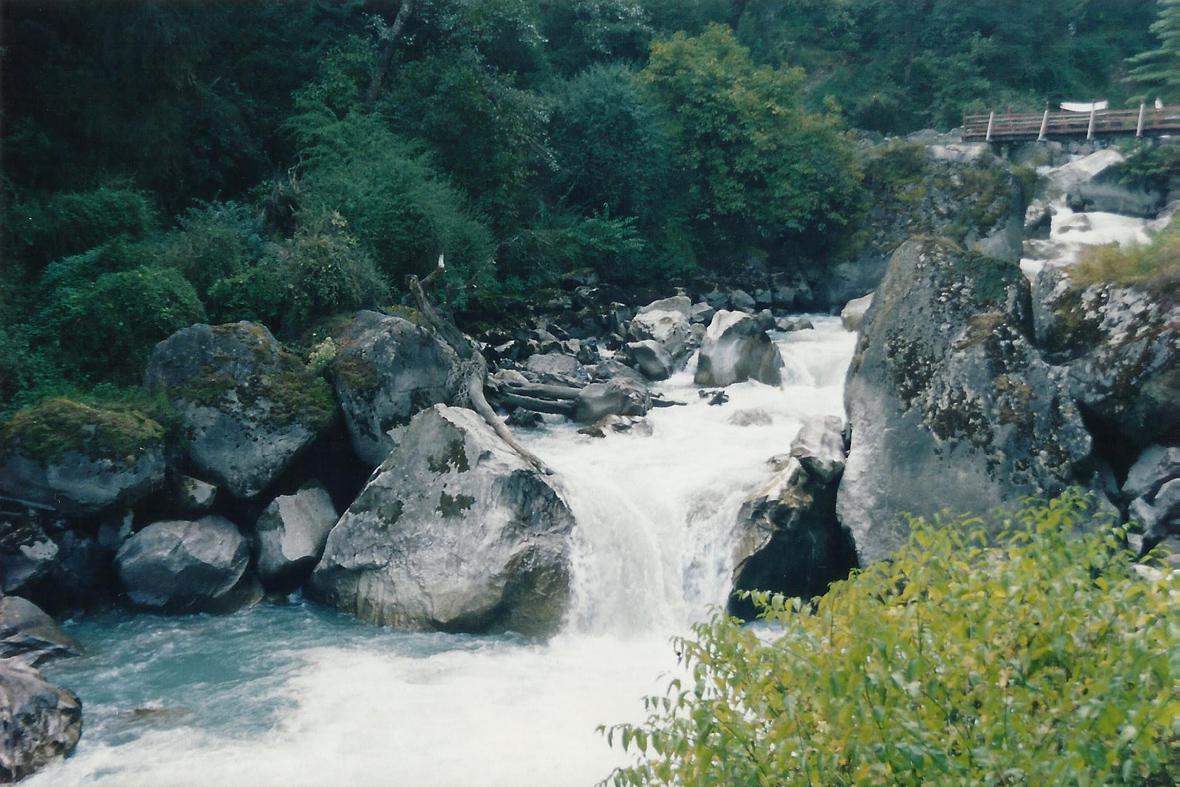 Stream Bridge Ghorepani Poon Hill Trek trekking hike hiking nepal