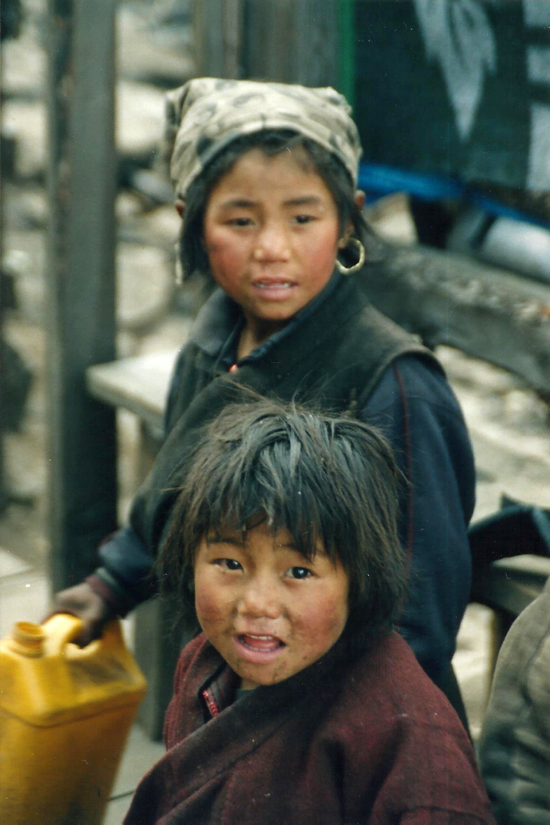 Tibetan Children Tamang Heritage Trail Trek trekking hike hiking nepal