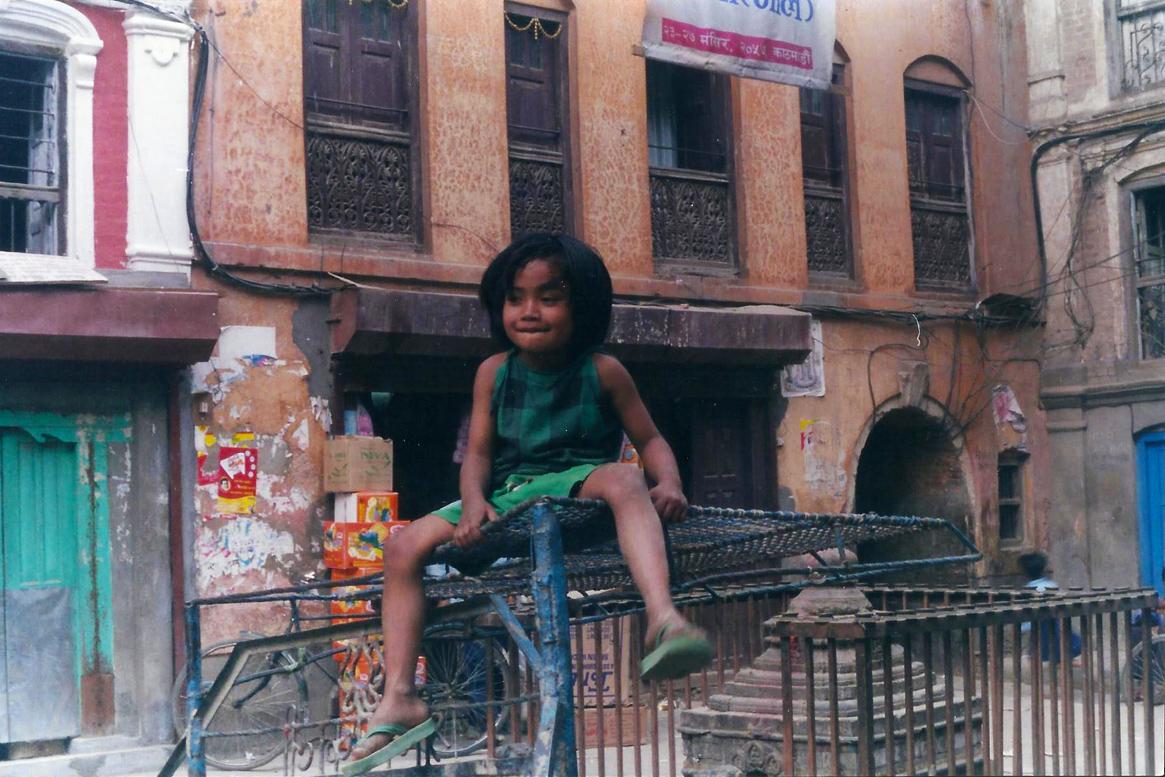 Child Courtyard Kathmandu Nepal