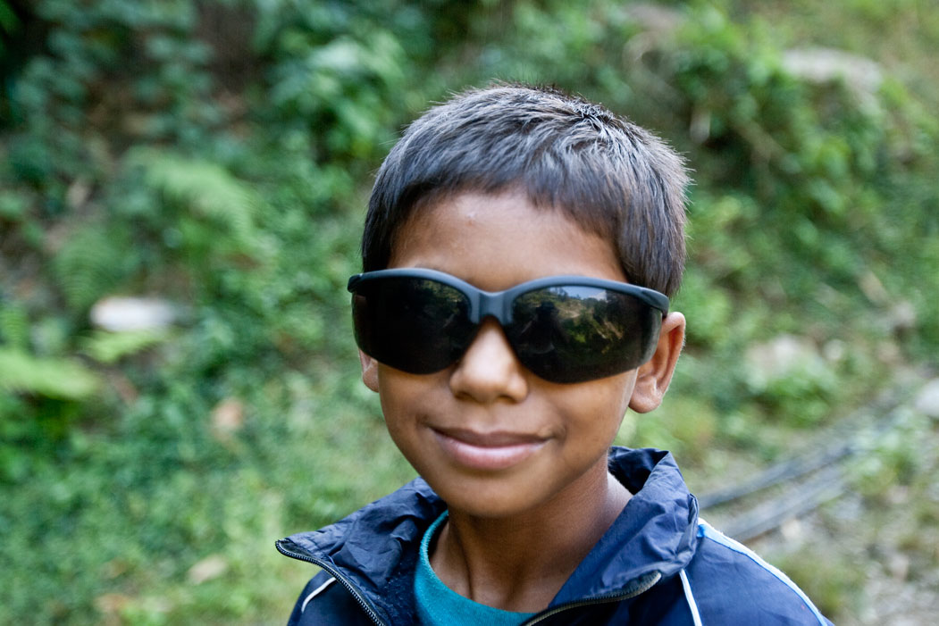 Boy Sunglasses Shades 3 Three Passes Trek Everest Base Camp EBC Trek Nepal Trekking Hike Hiking Khumbu Valley Himalayas