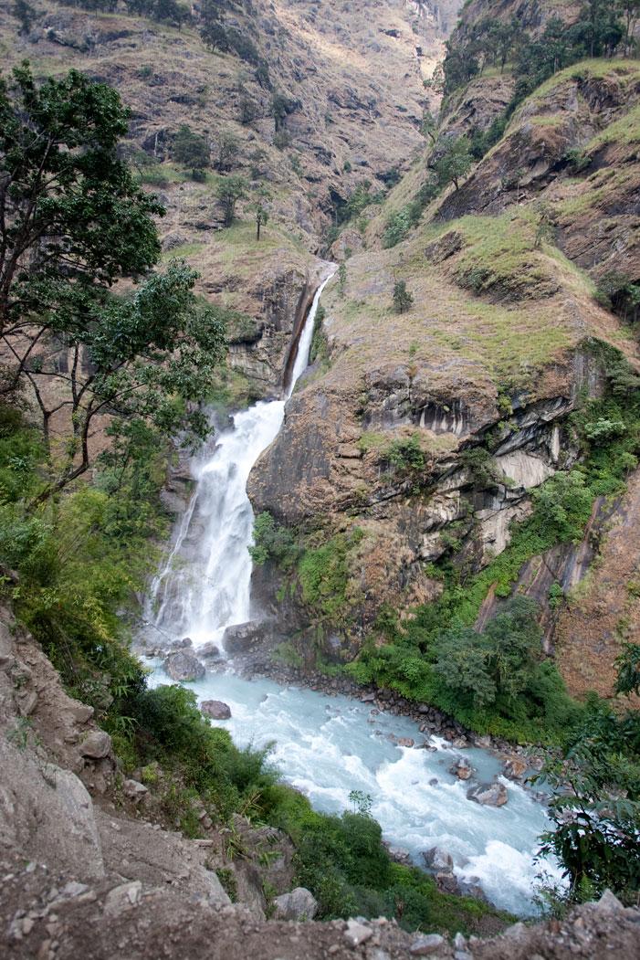 Stream Waterfall Makalu Base Camp Trek Nepal Trekking Hike Hiking Himalayas