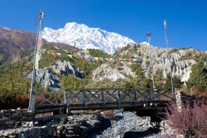 Bridge Stream Prayer Flags 3 Three Passes Trek Renjo La Gokyo Chola Lobuche Everest Base Camp EBC Trek Nepal Trekking Hike Hiking Himalayas