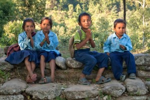 Children Tsum Valley Manaslu Circuit Trek Trekking Hike Hiking Nepal
