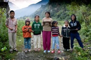 Children Ghorepani Poon Hill Trek trekking hike hiking nepal