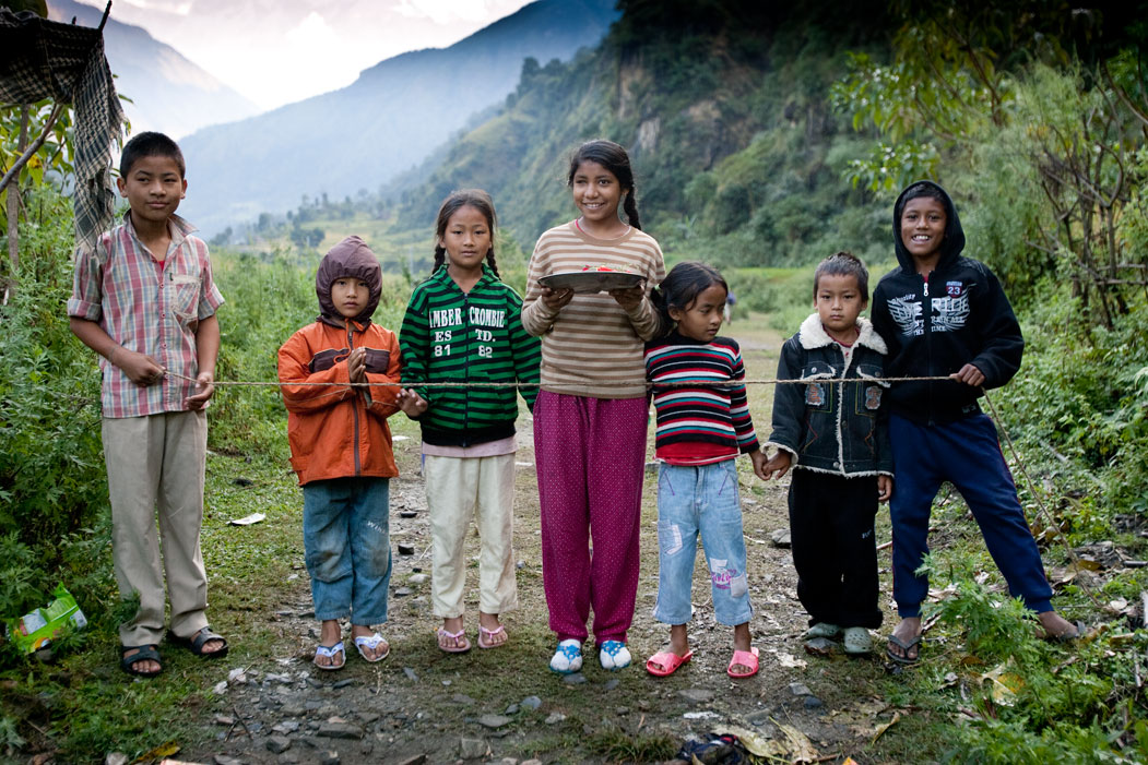Children Ghorepani Poon Hill Trek trekking hike hiking nepal