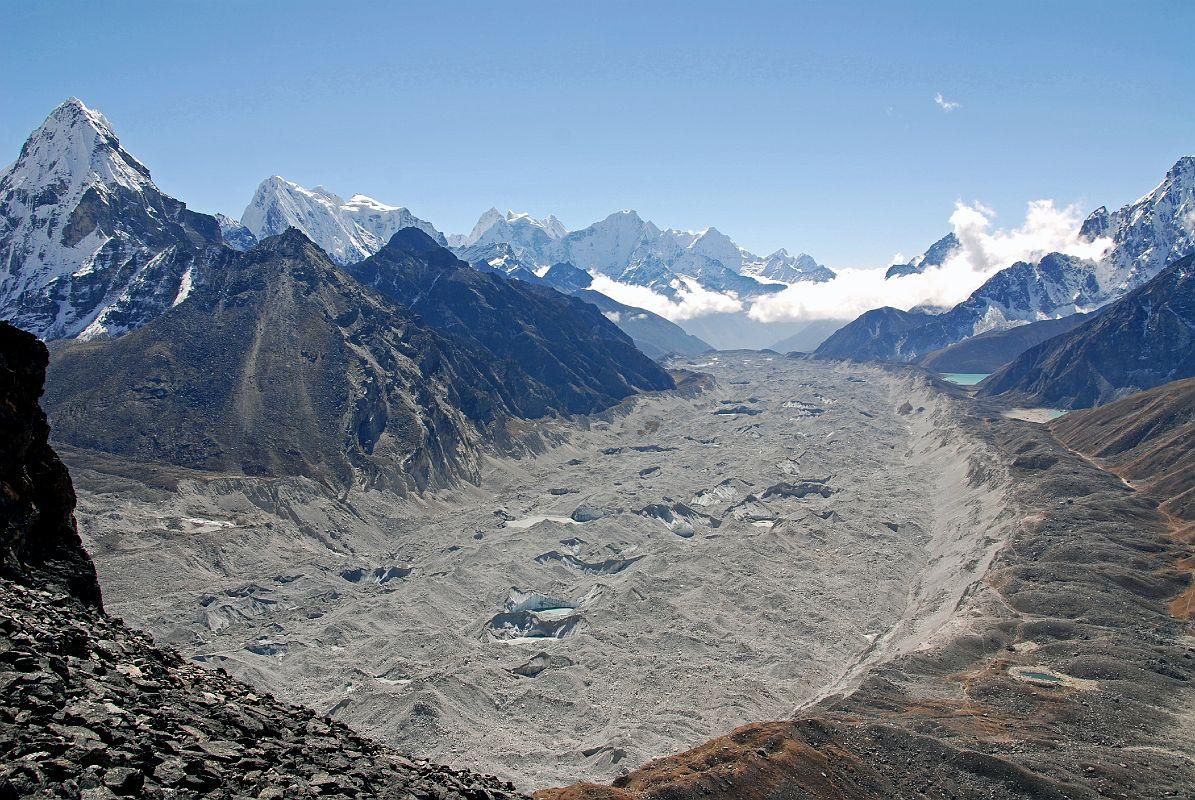 Nguzumpa Glacier 3 Three Passes Trek Gokyo Everest Base Camp EBC Trek Nepal Kangchung West Cholatse Taweche Kangtega Thamserku Kusum Kanguru Trekking Hike Hiking Himalayas