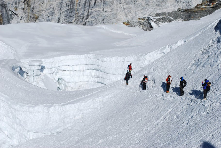 Traversing Snow Island Trekking Peak Nepal Trek Himalayas Hike Hiking
