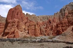 Red Cliffs Drakmar Dhakmar Upper Mustang Trek Trekking Hike Hiking Nepal