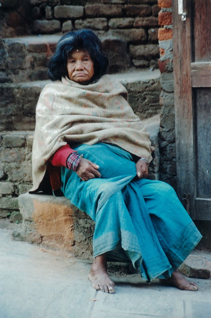 Old Lady Pokhara Nepal