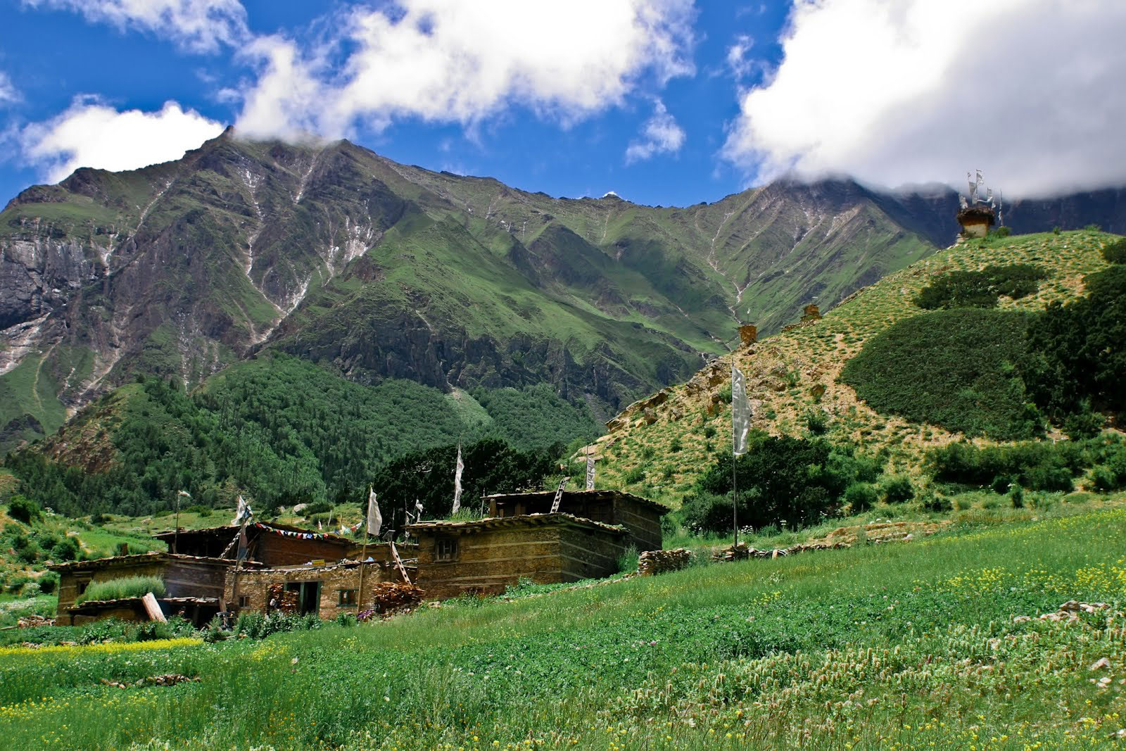 Himalayan Farmhouse Meadow Upper Dolpo Trek Nepal Trekking Hike Hiking Himalayas