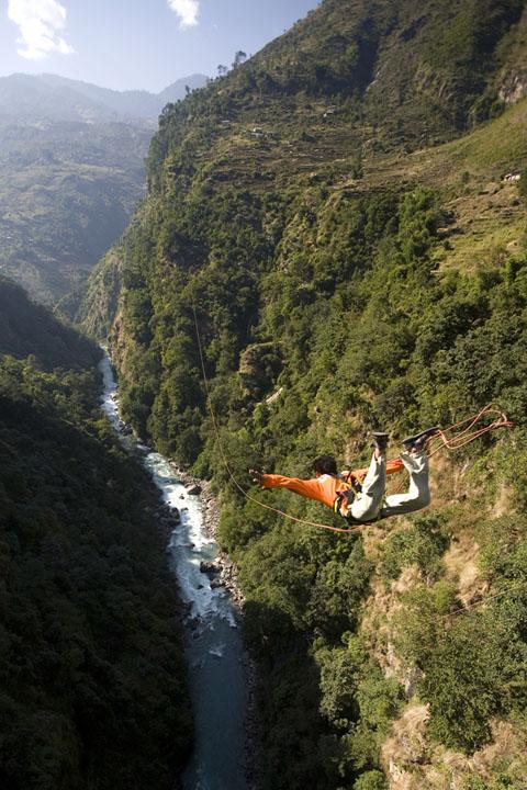 Giant Swing Bungee Jumping Jump Bhote Koshi Kosi Nepal Himalayas Adventure Sport Last Resort
