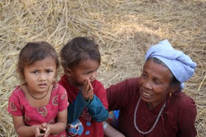 Woman Children Helambu Valley Trek trekking hike hiking nepal