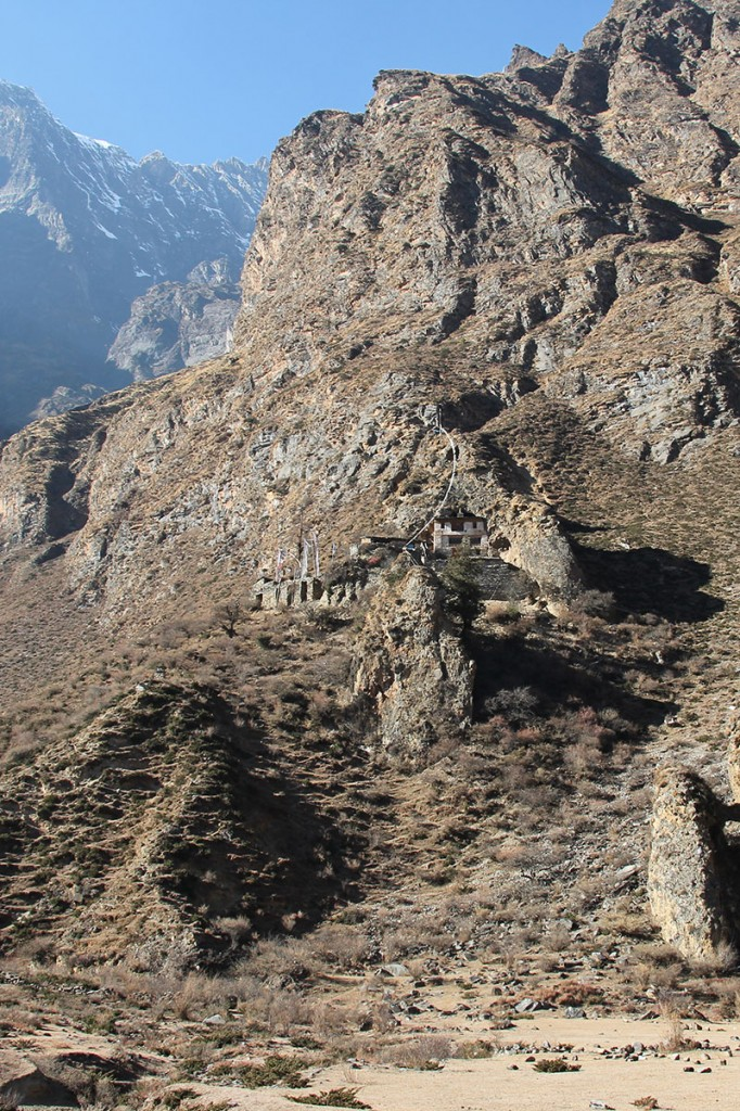 Milarepa's Milarepa Footprint Gompa Tsum Valley Trek Trekking Hike Hiking Nepal