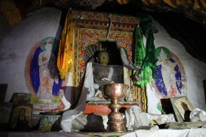 Inside Milarepa's Milarepa Footprint Gompa Tsum Valley Trek Trekking Hike Hiking Nepal
