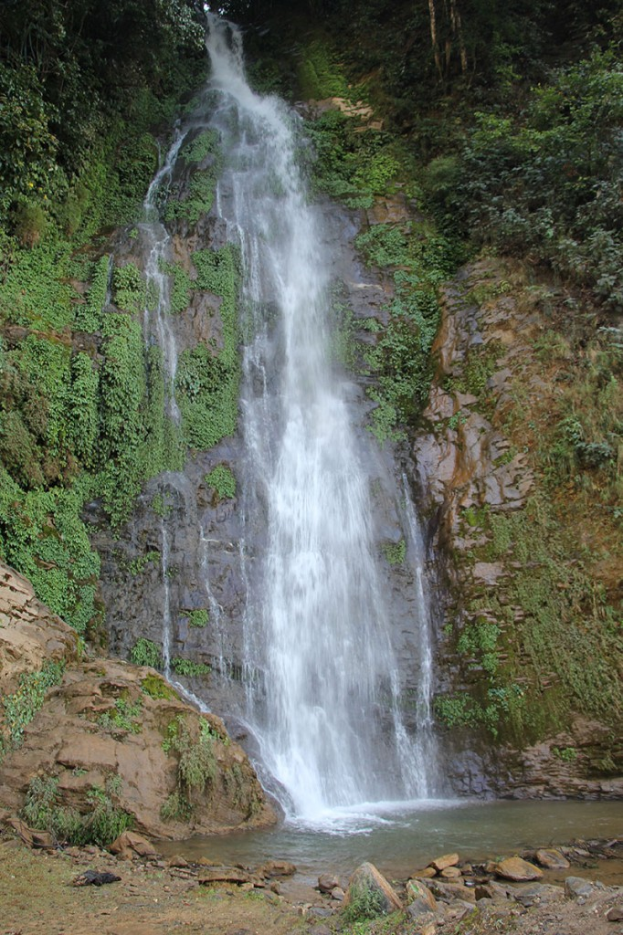 Waterfall Helambu Valley Trek trekking hike hiking nepal