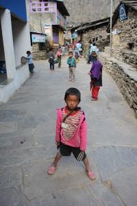 Children Jagat Tsum Valley Manaslu Circuit Trek Trekking Hike Hiking Nepal