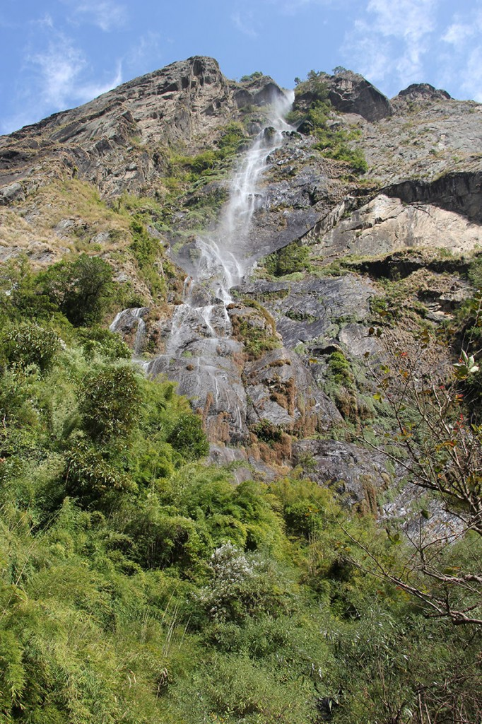 waterfall Ghorepani Poon Hill Trek trekking hike hiking nepal