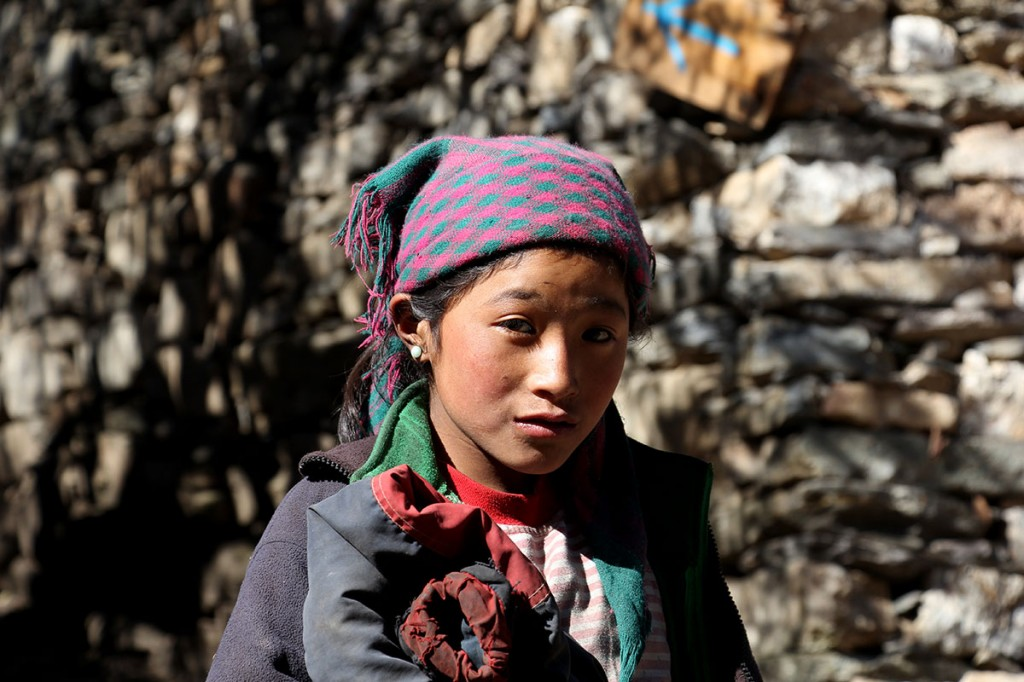 Tibetan Girl Helambu Gosaikunda Langtang Valley Trek Trekking Hike Hiking Nepal