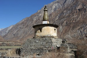 Stupa Chorten Glancing Eyes Gilded Pinnacle Tsum Valley Trek Trekking Hike Hiking Nepal