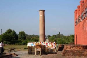 Ashoke Pillar Buddha Lumbini Religion Birthplace Nepal Culture Buddhist Religious