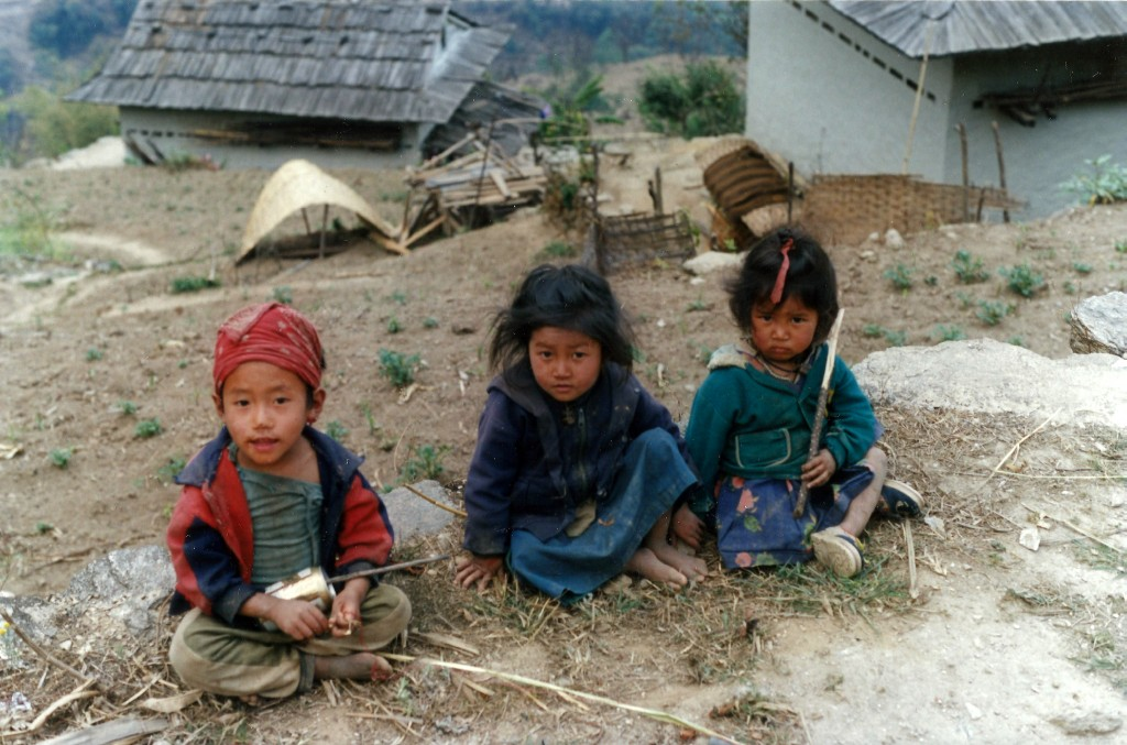 children trekking trek hiking hike Everest khumbu Valley Nepal