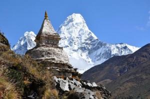 Chorten Ama Dablam Trekking Nepal Trek Hiking Hike Stupa
