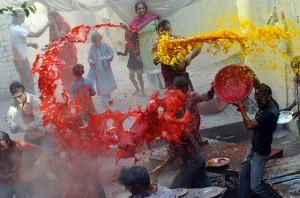 Holi Nepal Hindu National Religion Water Festival Festivals Religious Dance Dancing