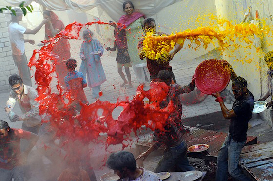 Holi Nepal Hindu National Religion Water Festival Festivals Religious Dance Dancing Cultural Tourism