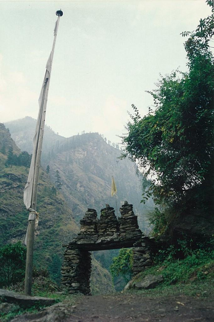 Flag Kani Manaslu Circuit Trek Nepal Trekking Hike Hiking Himalayas