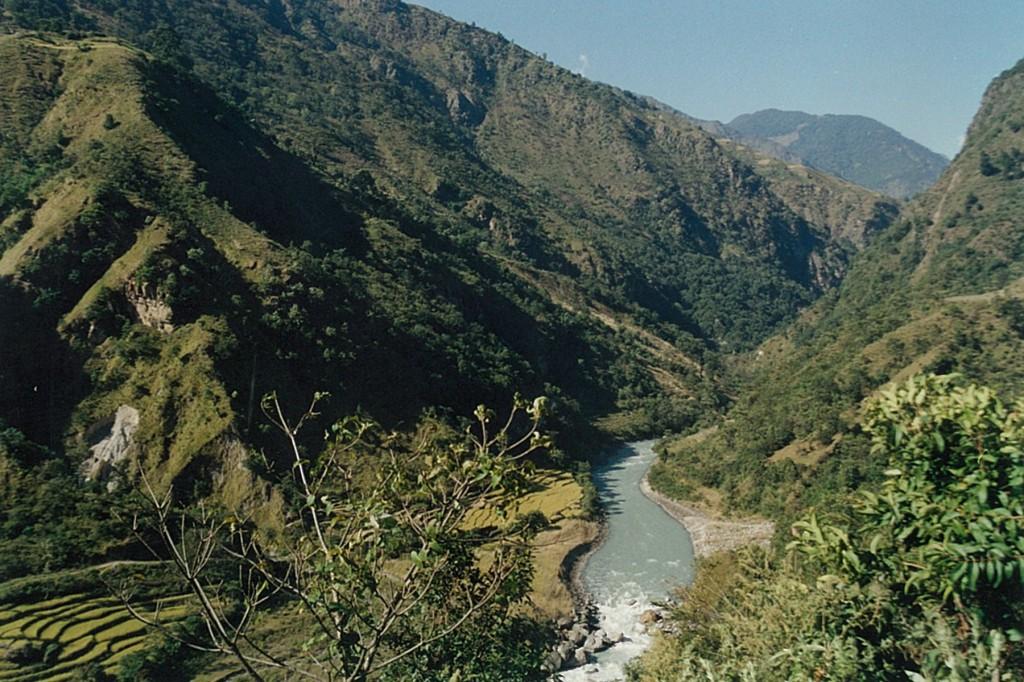 Marsyangdi Nadi River Gorge Manaslu Annapurna Circuit Trek Nepal Trekking Hike Hiking Himalayas