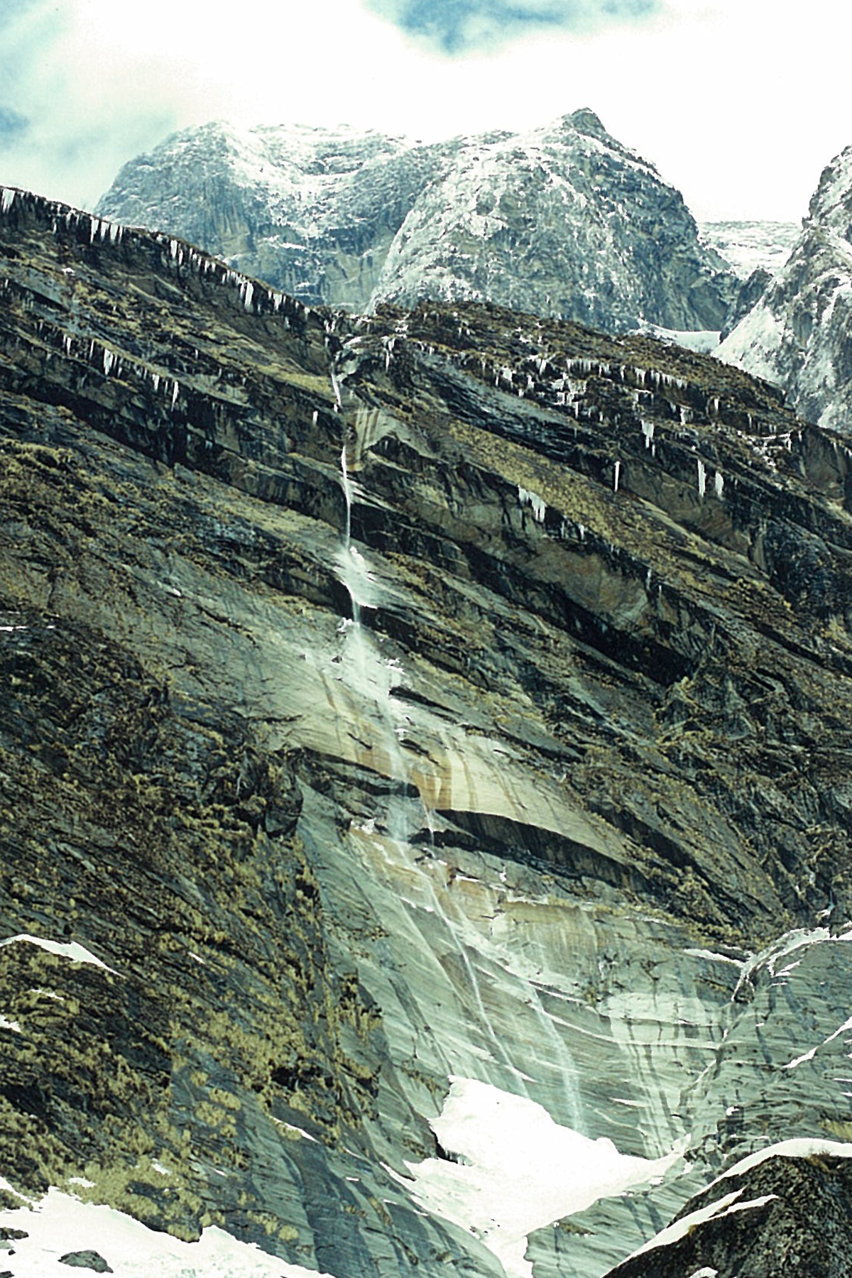 Icy Cliffs Annapurna Base Camp Trek ABC Sanctuary Trekking Hike Hiking Nepal