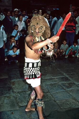 Indra Jatra Nepal Hindu Buddhist Religion Chariot Festival Festivals Religious Cultural Tourism Temple Dancing Dance Music