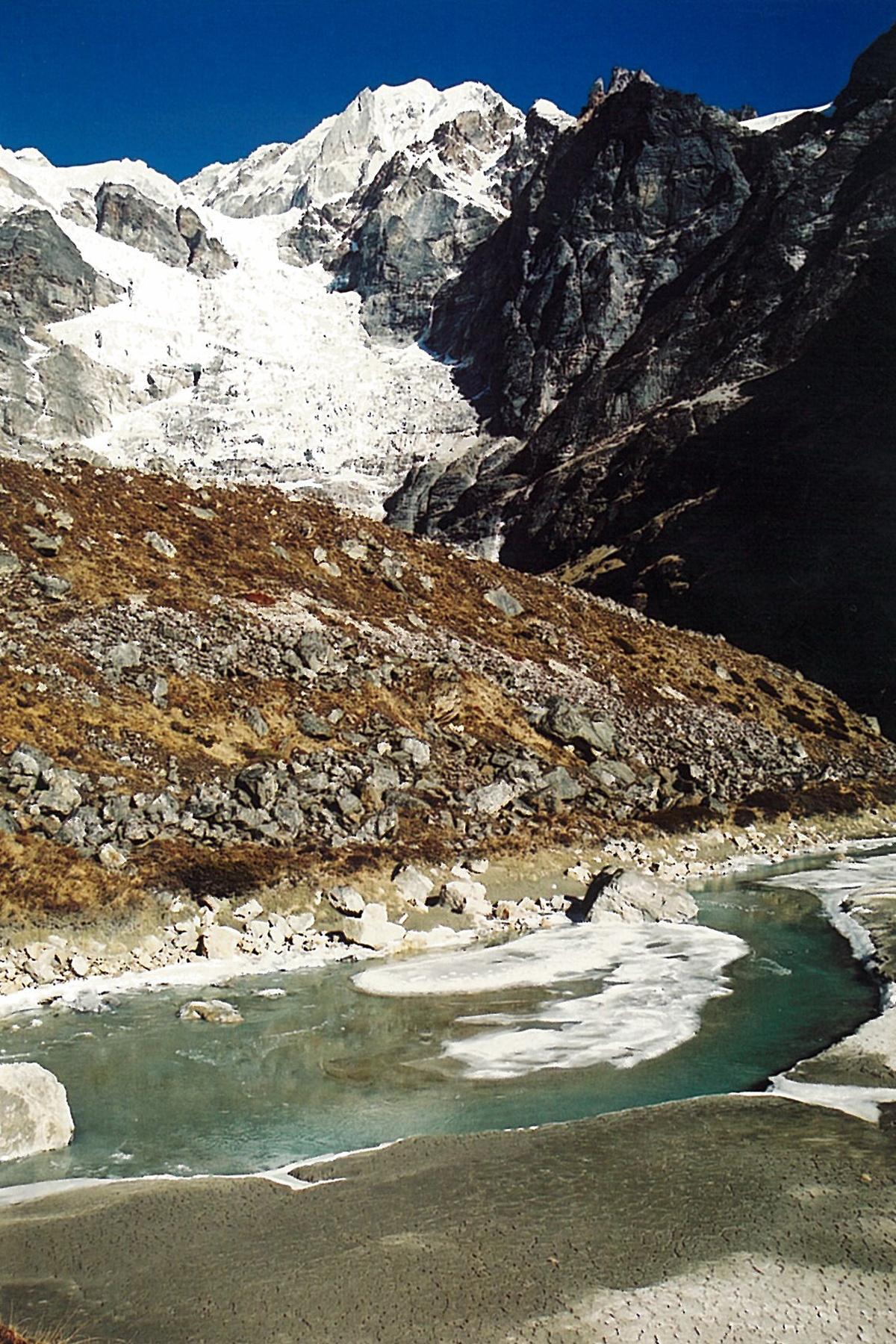 Glacial River Mera Trekking Peak Hinku Valley Trek Nepal Himalayas Hike Hiking
