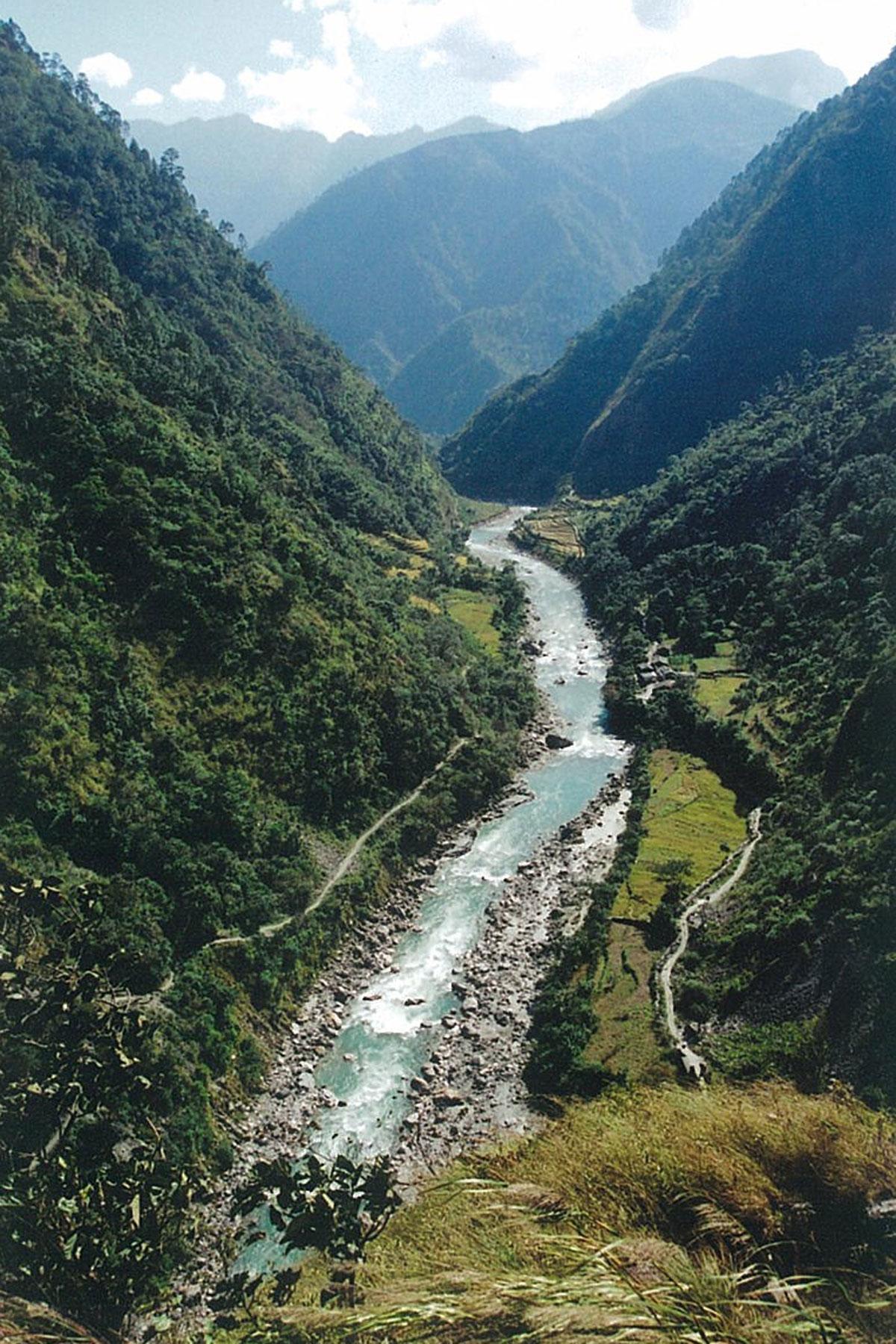 Budhi Gandaki River Gorge Manaslu Circuit Tsum Valley Trek Nepal Trekking Hike Hiking Himalayas
