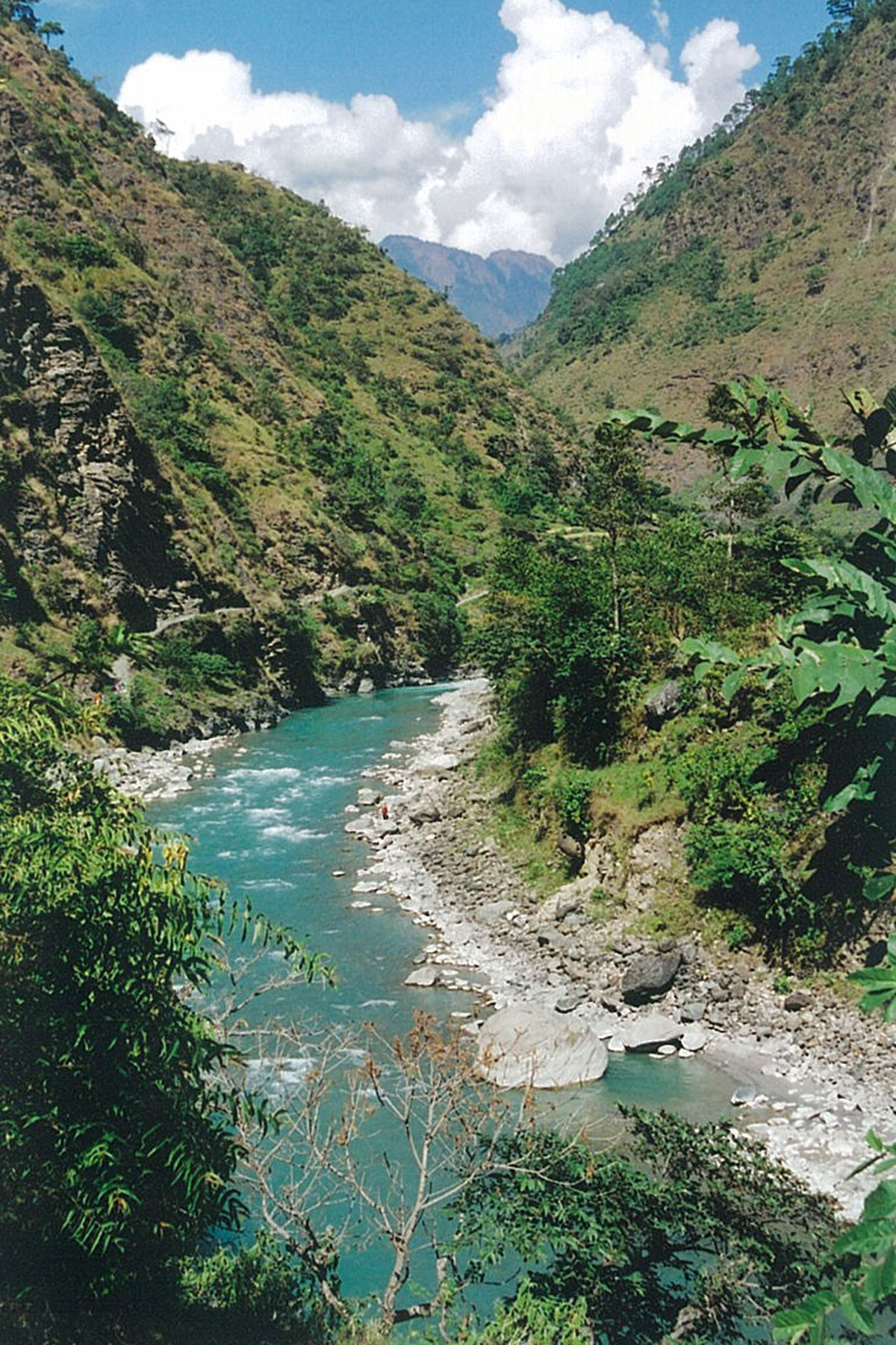 Mountain River Panch Pokhari Trek Trekking Hike Hiking Nepal