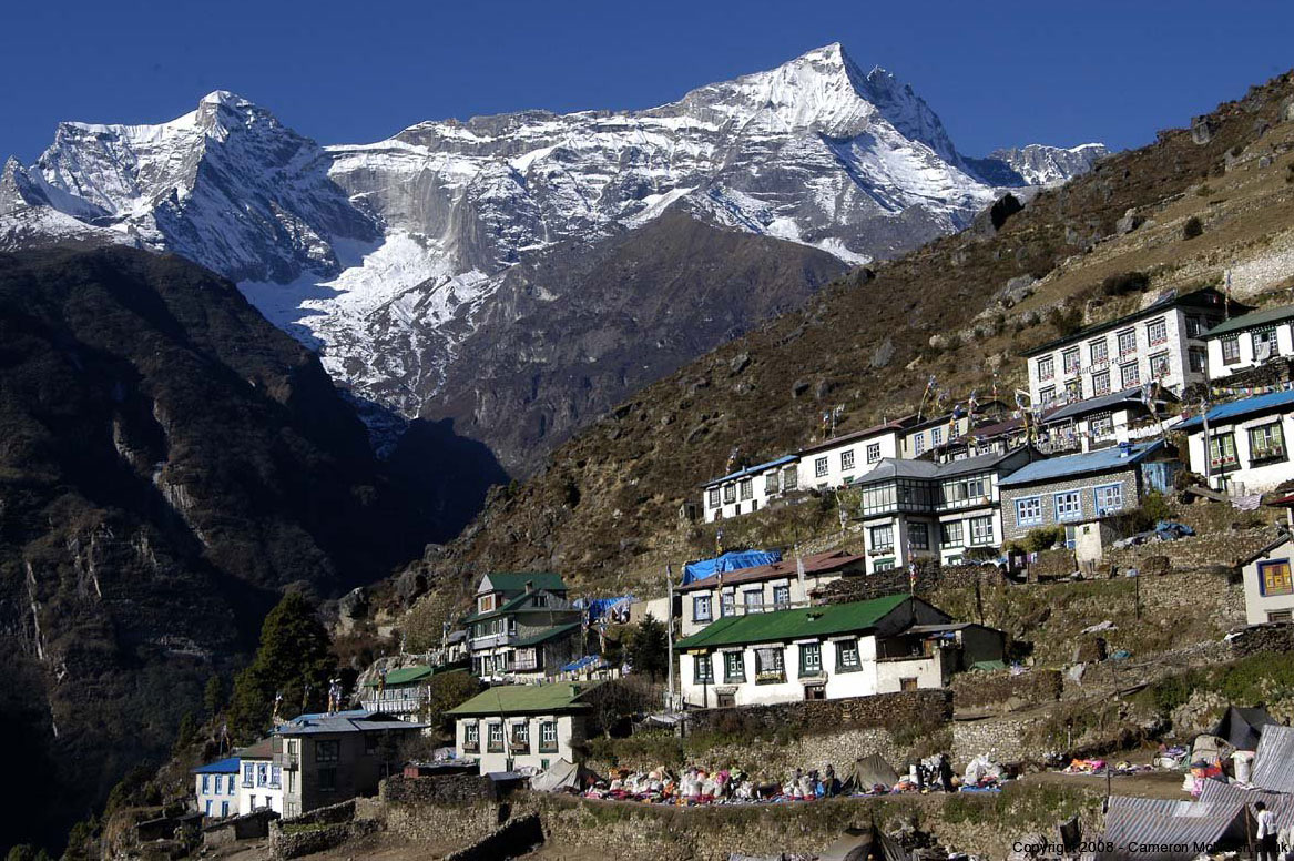 Namche Bazaar Everest Panorama Trek Valley Trekking Hike Hiking Nepal
