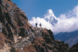 Trekkers Everest Panorama Trek Valley Trekking Hike Hiking Nepal