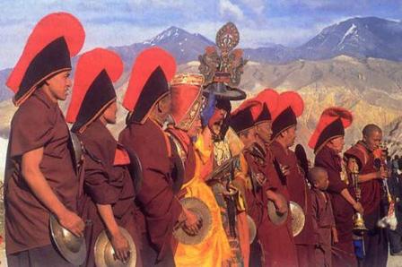 Dumji Nepal Buddhist Religion Sherpa Festival Festivals Religious Cultural Tourism Temple Dancing Dance