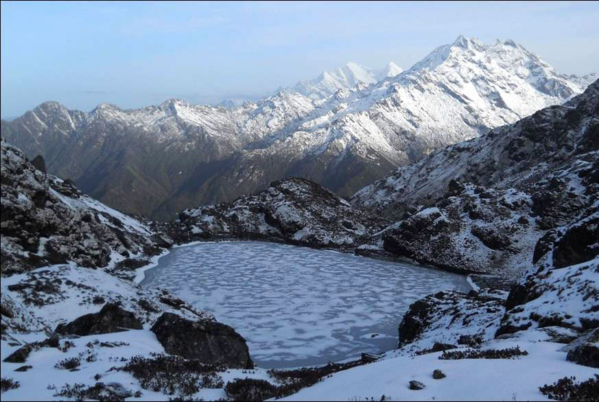 Wintry Holy Lake Panch Pokhari Trek Trekking Hike Hiking Nepal