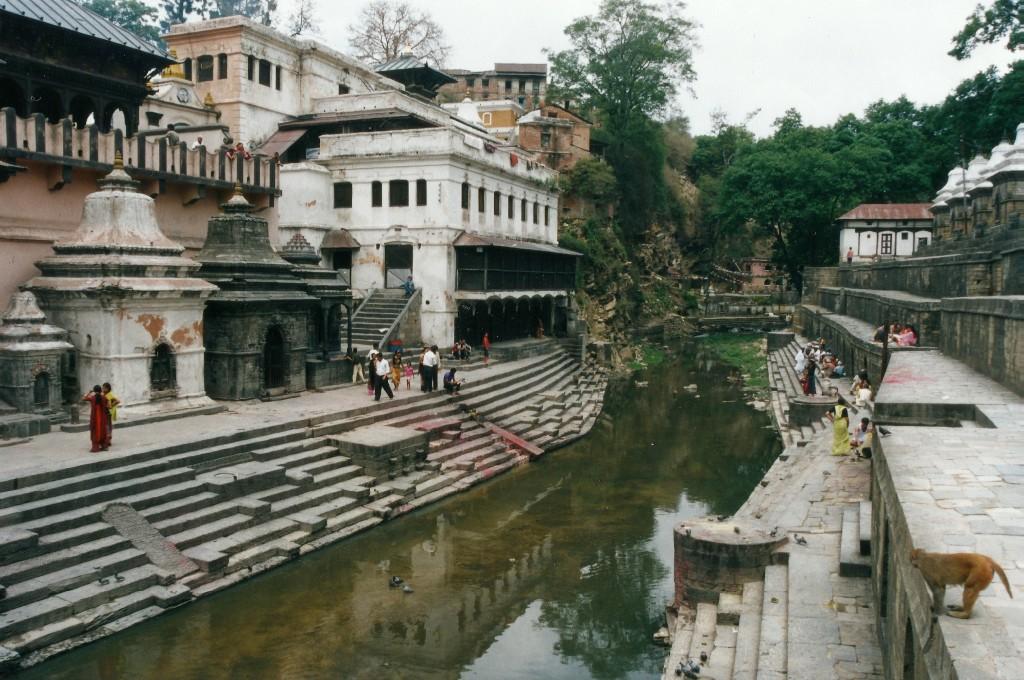 Ghats Pashupatinath Temple Kathmandu Nepal