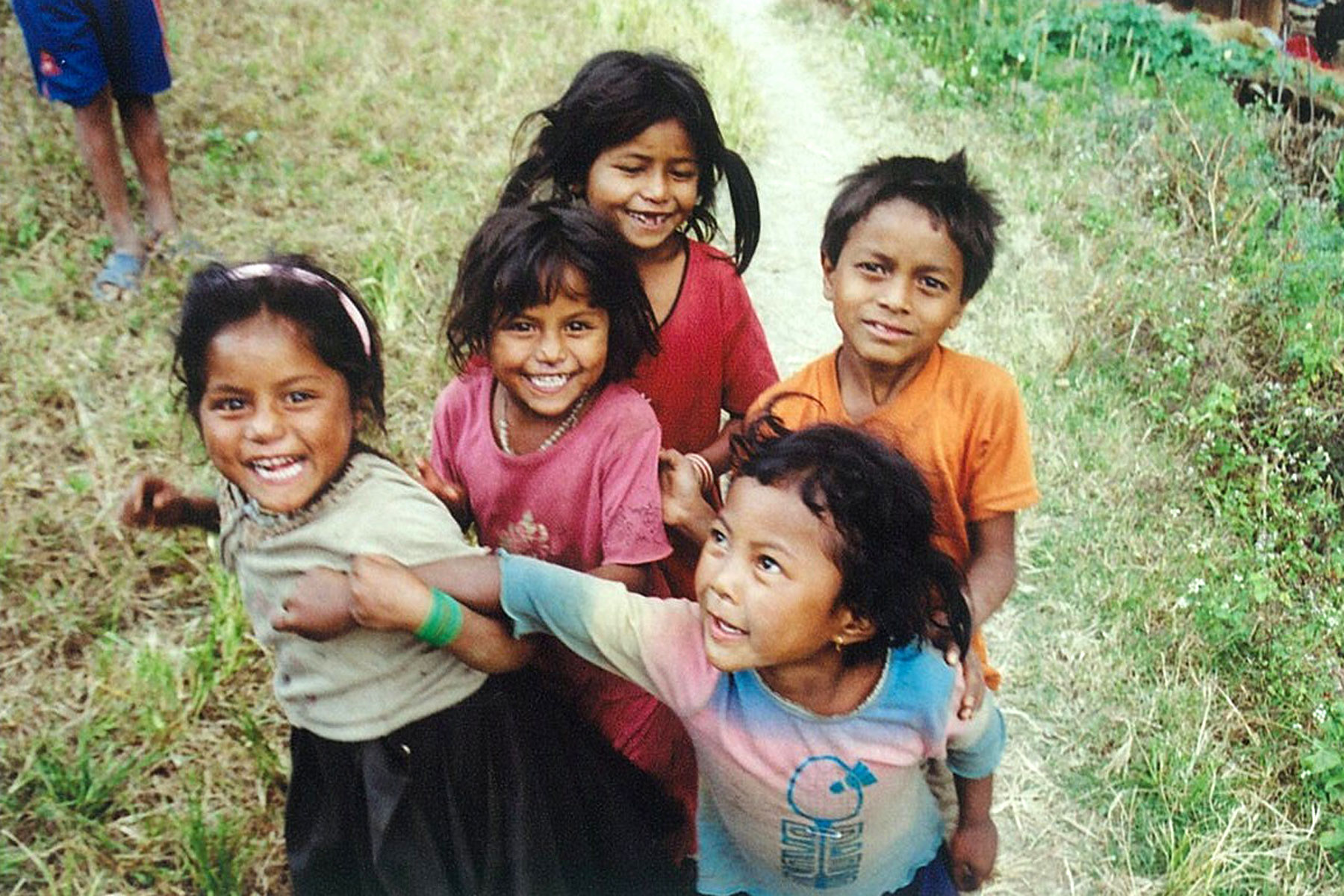 Trekking trek hiking hike Kathmandu Valley Ridge Nepal children
