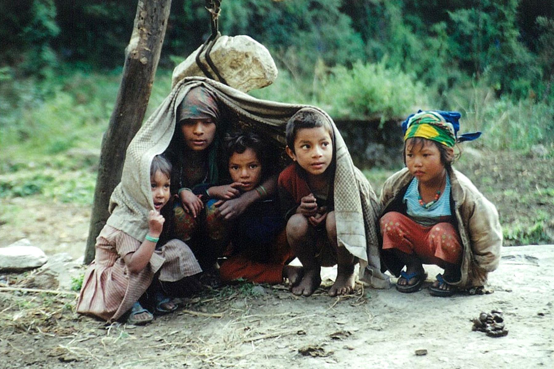 Sheltering Rain Helambu Valley Trek trekking hike hiking nepal