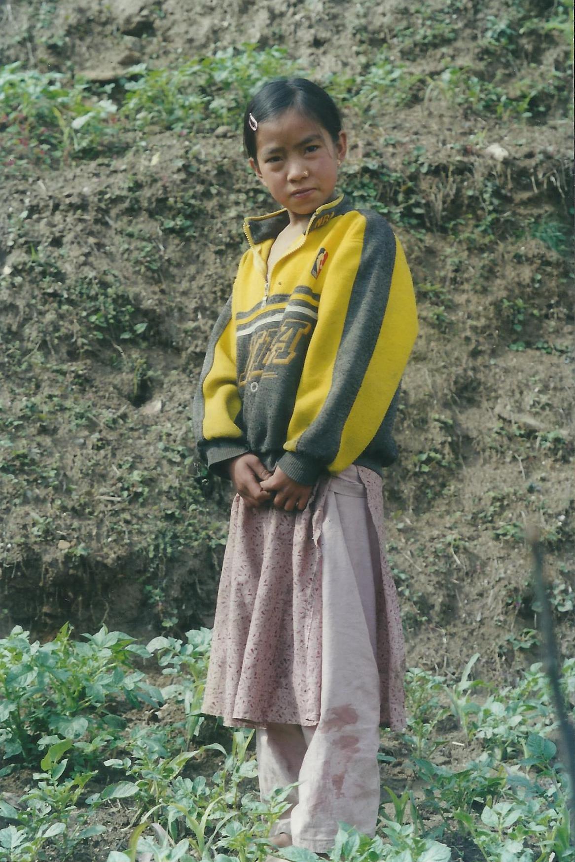 Girl Everest Panorama Trek Khumbu Valley Trekking Hike Hiking Nepal