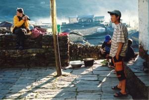 Setting Sun Shadows Tamang Heritage Trail Trek trekking hike hiking nepal