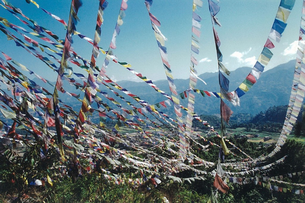 Prayer Flags Trekking Nepal Trek Hiking Hike Pharping
