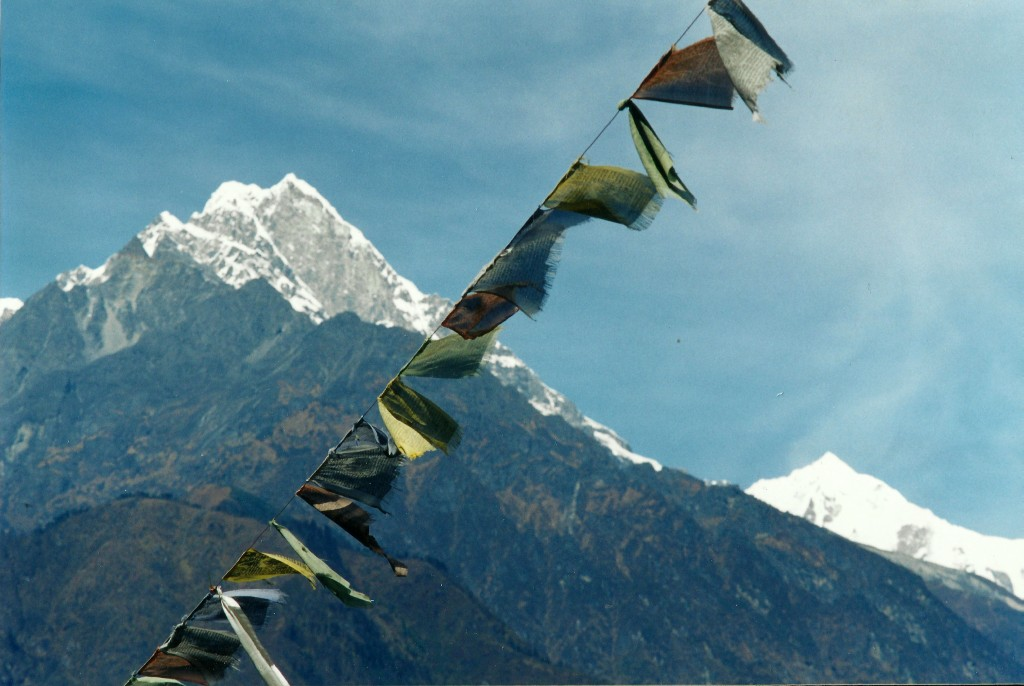 prayer flags Tamang Heritage Trail Trek trekking hike hiking nepal