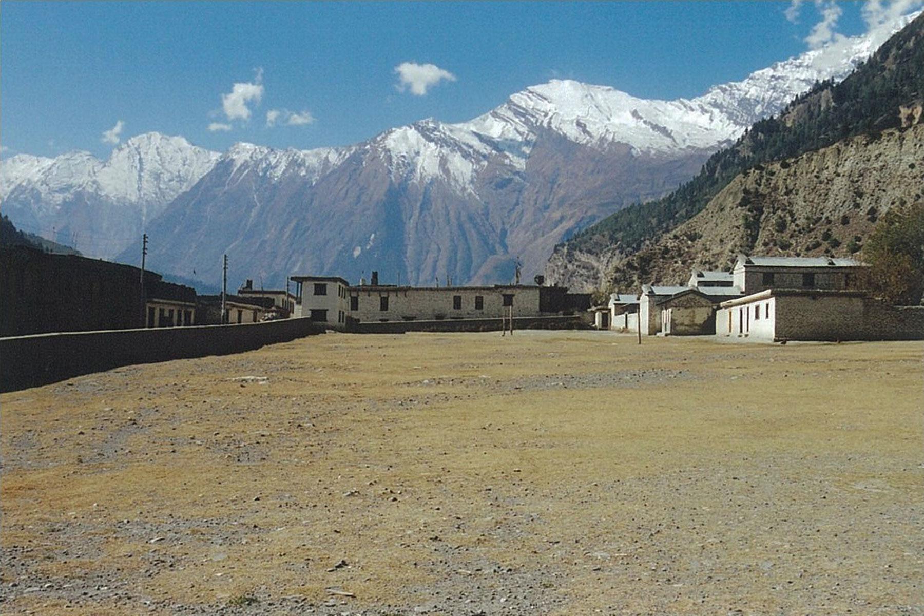Schoolyard Annapurna Circuit Trek Upper Mustang Trekking Hike Hiking Nepal
